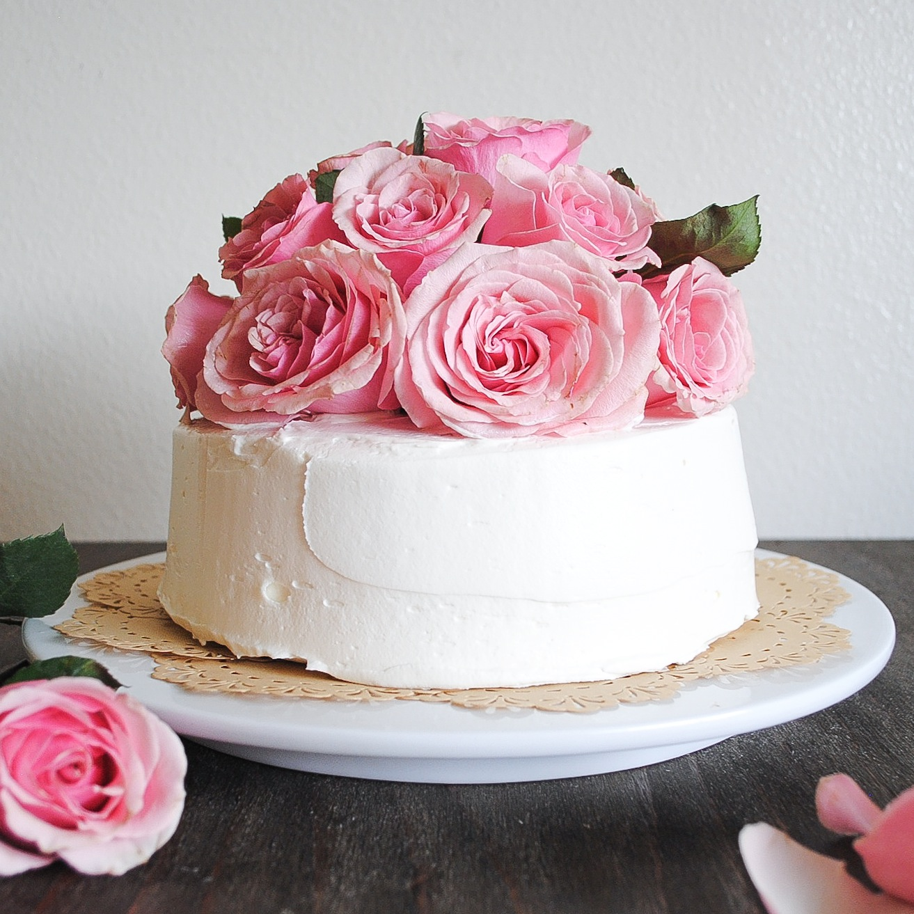 rose birthday cake tayberry chocolate cake with fresh cut roses blessings 7111
