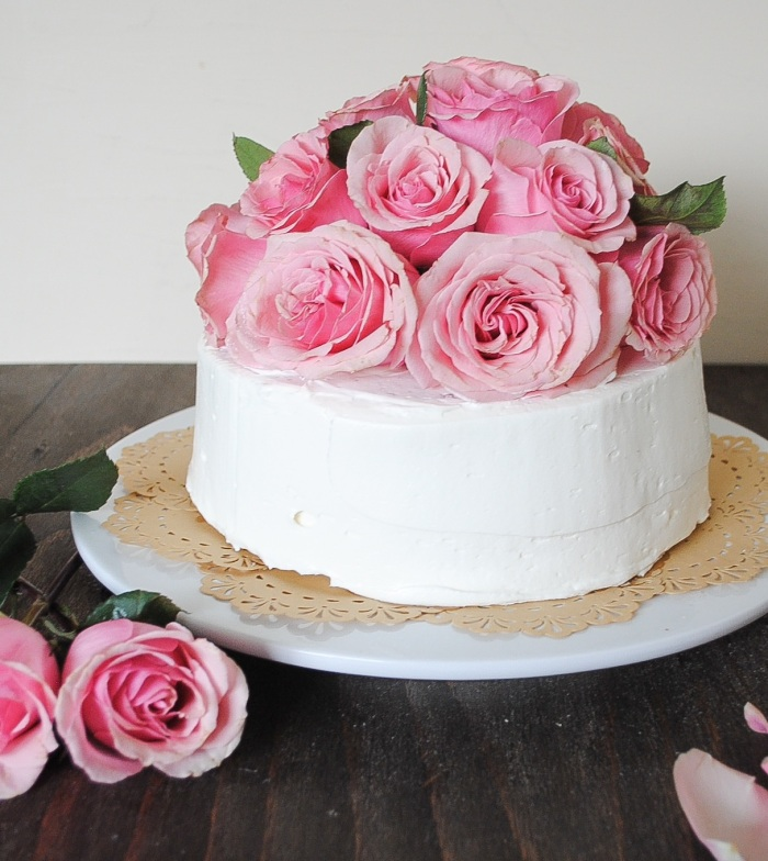 Tayberry Chocolate Cake With Fresh Cut Roses Blessings