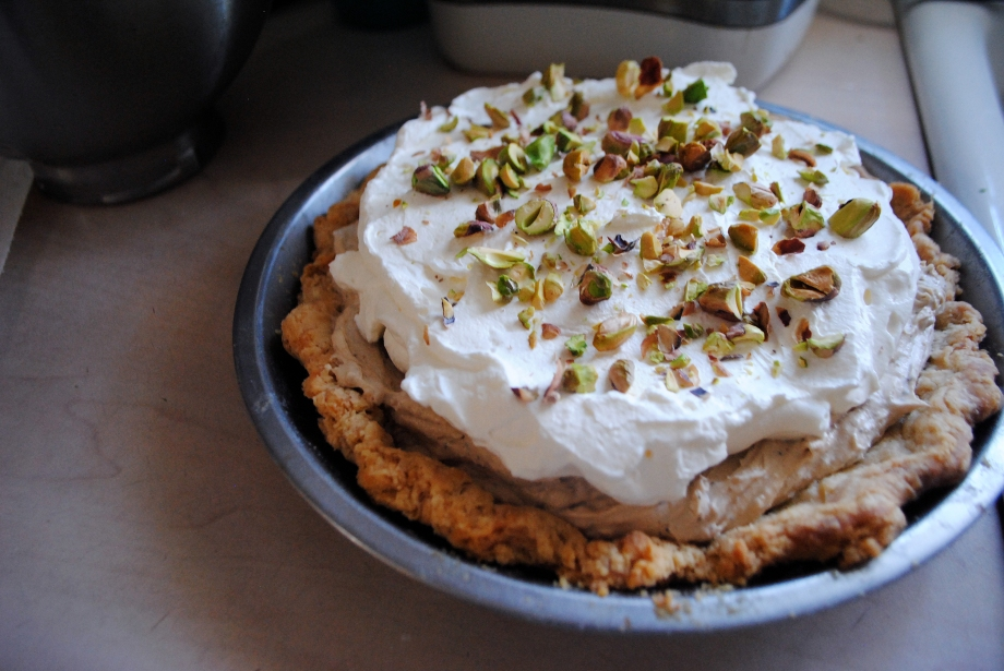 Earl Grey Pie with topping
